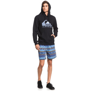 Quiksilver Comp Logo Screen Fleece Hoody Herren black black