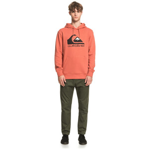 Quiksilver Comp Logo Screen Fleece Hoody Herren redwood redwood