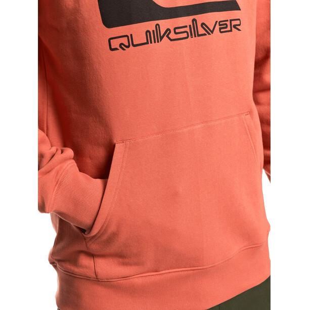 Quiksilver Comp Logo Screen Manteau à capuche en polaire Homme, orange