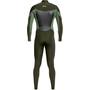 Quiksilver 3/2 Syncro Chest Wetsuit met Rits GBS Heren, groen/olijf