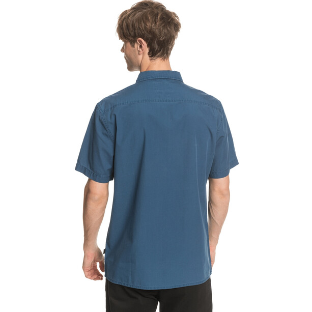 Quiksilver Taxer Wash Chemise manches courtes Homme, bleu