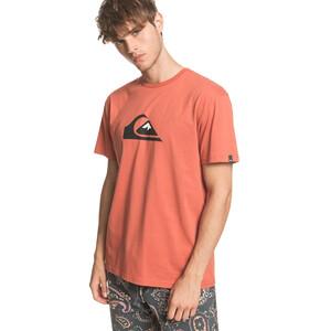 Quiksilver Comp Logo Kurzarm T-Shirt Herren redwood redwood