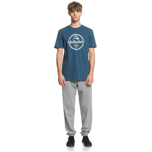 Quiksilver Words Remain Kurzarm T-Shirt Herren majolica blue majolica blue