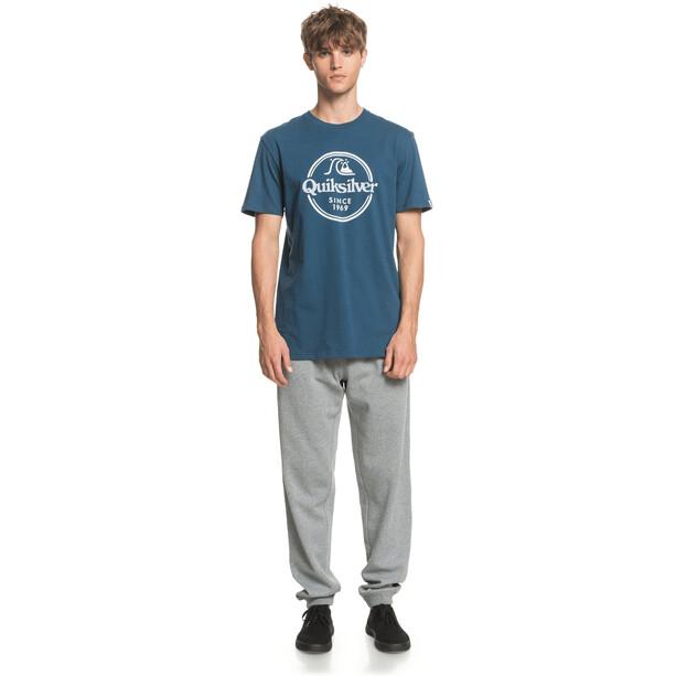 Quiksilver Words Remain Kurzarm T-Shirt Herren majolica blue
