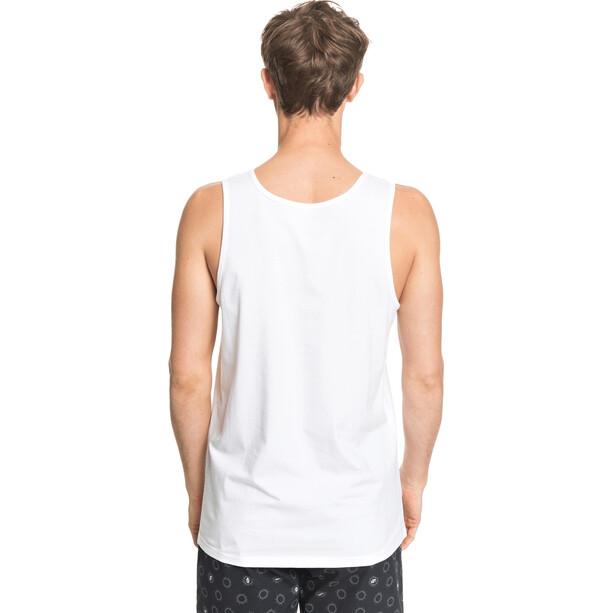Quiksilver Comp Logo Débardeur Homme, blanc