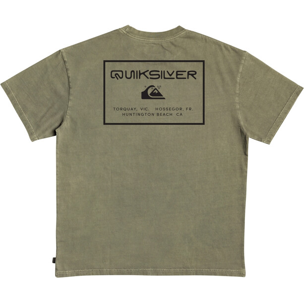 Quiksilver X Comp Kurzarm T-Shirt Herren kalamata