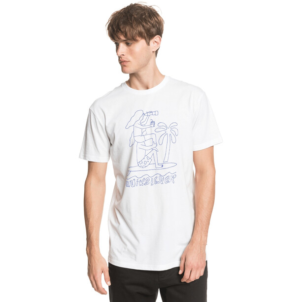 Quiksilver Turning Heads T-shirt Heren, wit