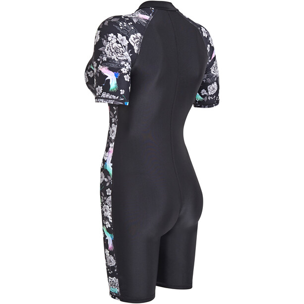 Zoggs Sakura Knielanger Badeanzug Damen black/multi