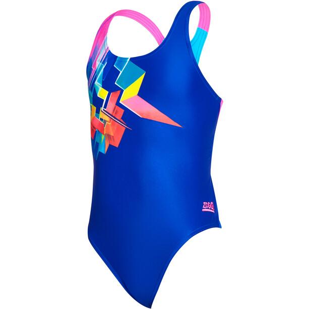 Zoggs Digital Geo Rowleeback Badeanzug Mädchen multi/blue