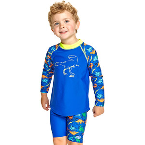 Zoggs Dino Land Long Sleeve Sun Top Boys blue blue
