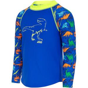 Zoggs Dino Land Pitkähihainen UV-suoja Pusero Pojat, blue blue