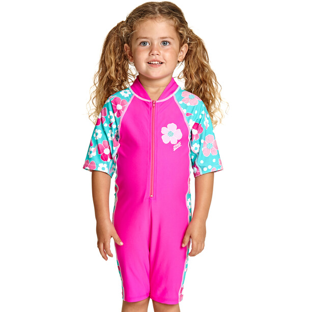 Zoggs Petal Magic All In One Maillot de bain 1 pièce Fille, pink