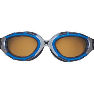 Zoggs Predator Flex Polarized Ultra Reactor Brille S blue/metallic silver/copper blue/metallic silver/copper