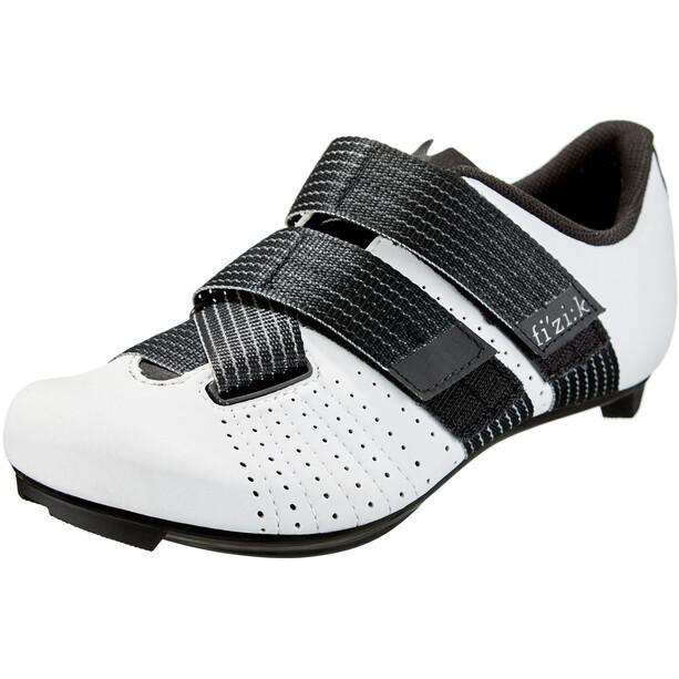 Fizik Tempo R5 Powerstrap Chaussures de cyclisme, blanc