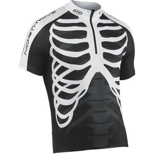 Northwave Skeleton Full-Zip Kurzarmtrikot Herren black/white black/white