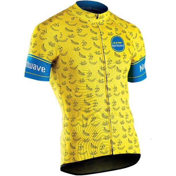 Northwave Banana Split Full-Zip Kurzarmtrikot Herren yellow
