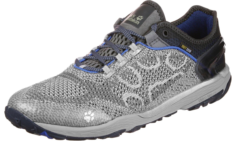 Jack Wolfskin Crosstrail Knit Low Trail Running Schuhe Herren silver grey