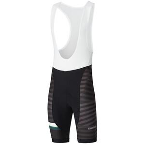 Shimano Team Trägershorts Herren black/green black/green