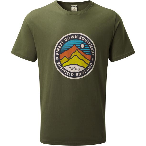 Rab Stance 3 Peaks Kurzarm T-Shirt Herren army