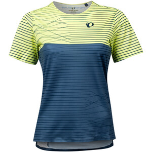 PEARL iZUMi Launch Kurzarmshirt Damen sunny lime/dark denim frequency sunny lime/dark denim frequency