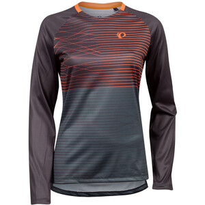 PEARL iZUMi Summit Langærmet T-shirt Damer, phantom/fiery coral frequency phantom/fiery coral frequency