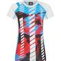 La Sportiva Draft T-Shirt Damen malibu blue/hibiscus