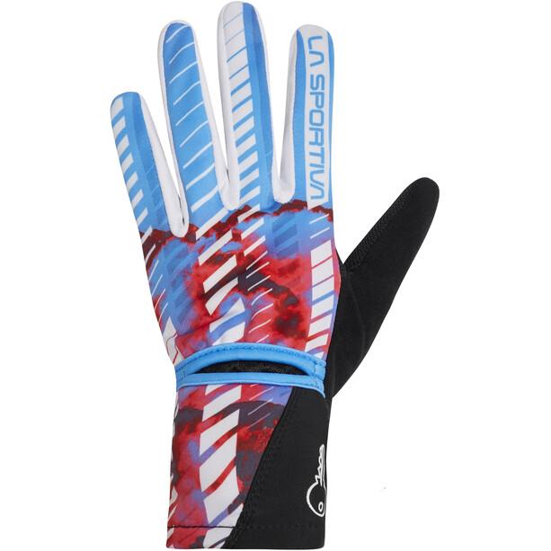 La Sportiva Trail Handschuhe Damen malibu blue/hibiscus