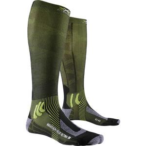 X-Socks Marathon Helix Retina Socken black melange/effektor green black melange/effektor green