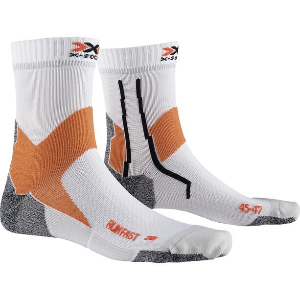 X-Socks Run Fast Socken weiß/orange