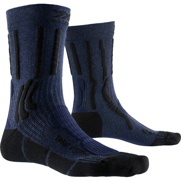 X-Socks Trek X CTN Socken midnight blue melange/opal black