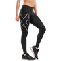 2XU Run Mid-Rise Dash Compression Tights Women black/silver reflective