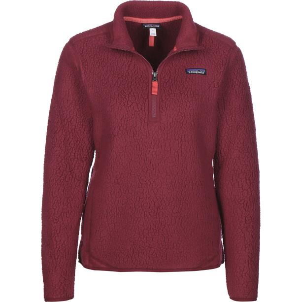 Patagonia Retro Pile 1/4 Zip Sweater Damen arrow red