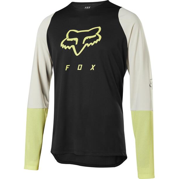 Fox Defend Fox Head LS Jersey Men black/yellow