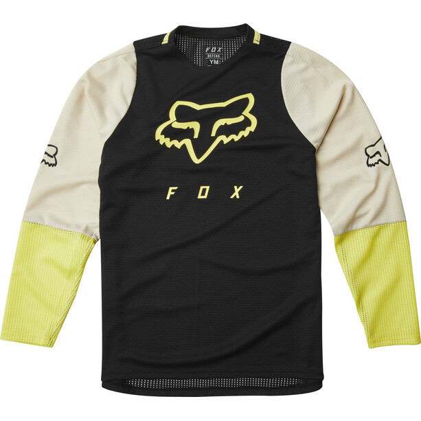 Fox Defend Langarm Trikot Jugend black