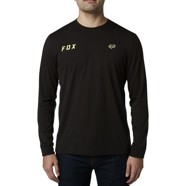 Fox Starter Langarm Tech T-Shirt Herren black