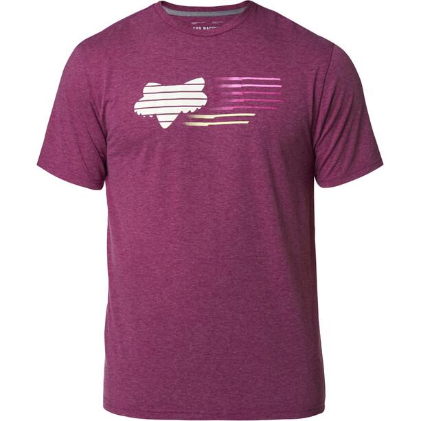 Fox Lightspeed Head Kurzarm Tech T-Shirt Herren heather purple