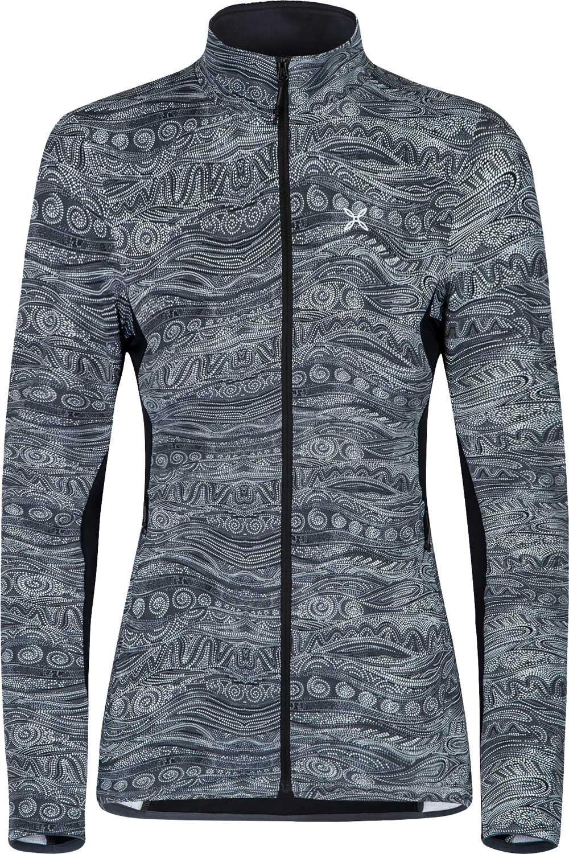 Damen twinset 2ér Set Shirt und Jacke in einem Teil mit Kette Lang Jacke Bluse