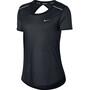 Nike Breathe Open Back T-Shirt Damen black
