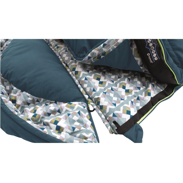 Outwell Camper Schlafsack blue/stripe
