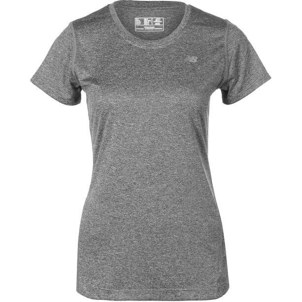 New Balance Lauf T-Shirt Damen black heather