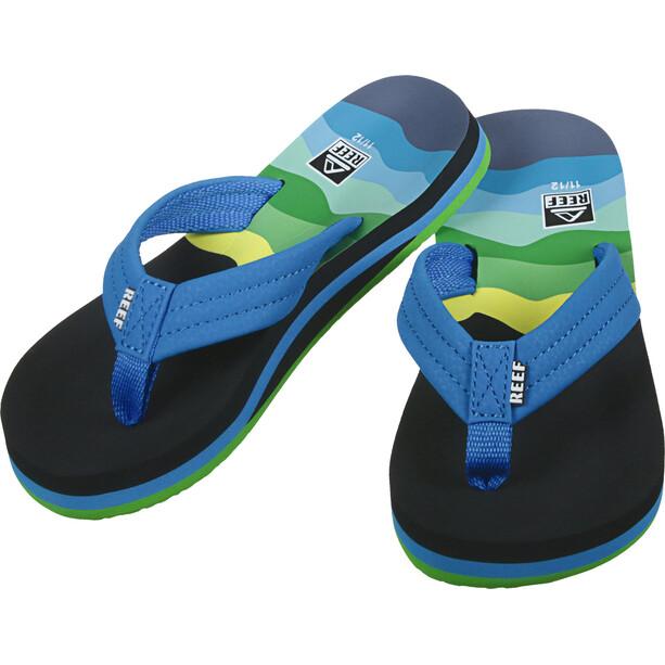 Reef Ahi Flip-flopit Lapset, sininen/musta