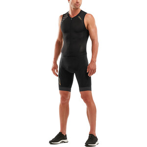 2XU Compression Full Zip Trisuit Herren black/gold black/gold