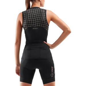 2XU Compression Tri Oberteil Damen black/gold black/gold