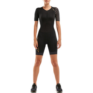 2XU Compression Trialtlondragt Damer, black/gold black/gold
