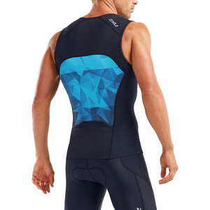 2XU Active Tri Oberteil Herren midnight/blue terrain midnight/blue terrain