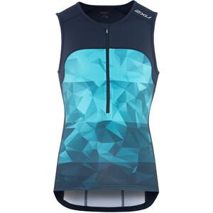 2XU Active Débardeur de triathlon Homme, bleu bleu