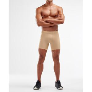2XU Core Compression 1/2 Shorts Men beige/silver beige/silver