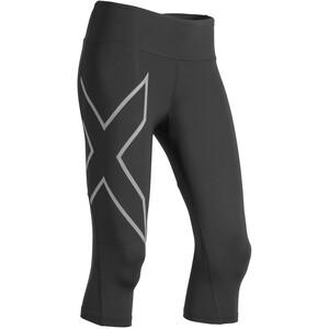 2XU Run Mid Rise Compression 3/4 Tights Damen black/silver reflective black/silver reflective