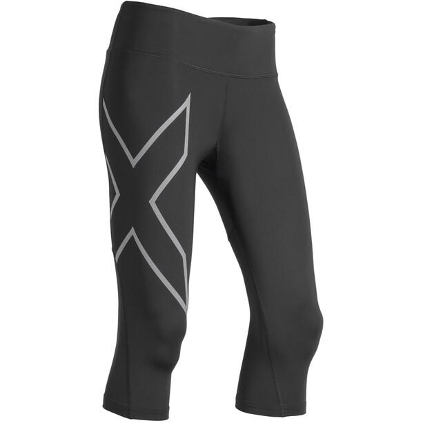 2XU Run Mid Rise Compression 3/4 Tights Damen black/silver reflective