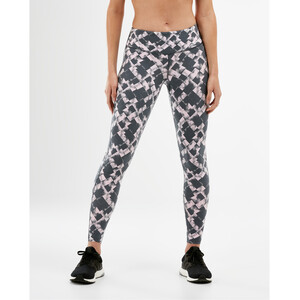 2XU Print Fitness Mid Rise Compression Tights Damen textured blossom check/white textured blossom check/white